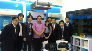 Daikin design team from Japan