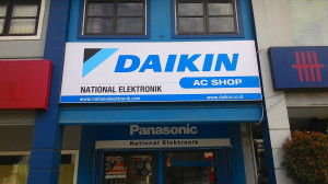 plang Daikin AC Shop National Elektronik