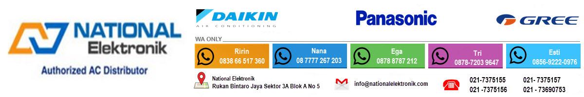 Toko Ac Panasonic Toko Ac Daikin Jakarta Tangerang National Elektronik